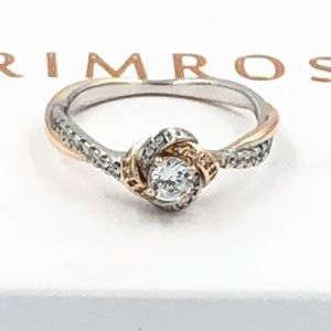 Two-toned Rose Ring -silver & rose gold